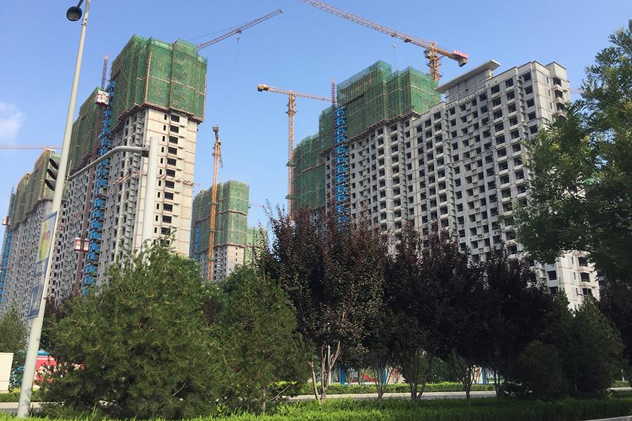 楼栋施工实景图(2017.7