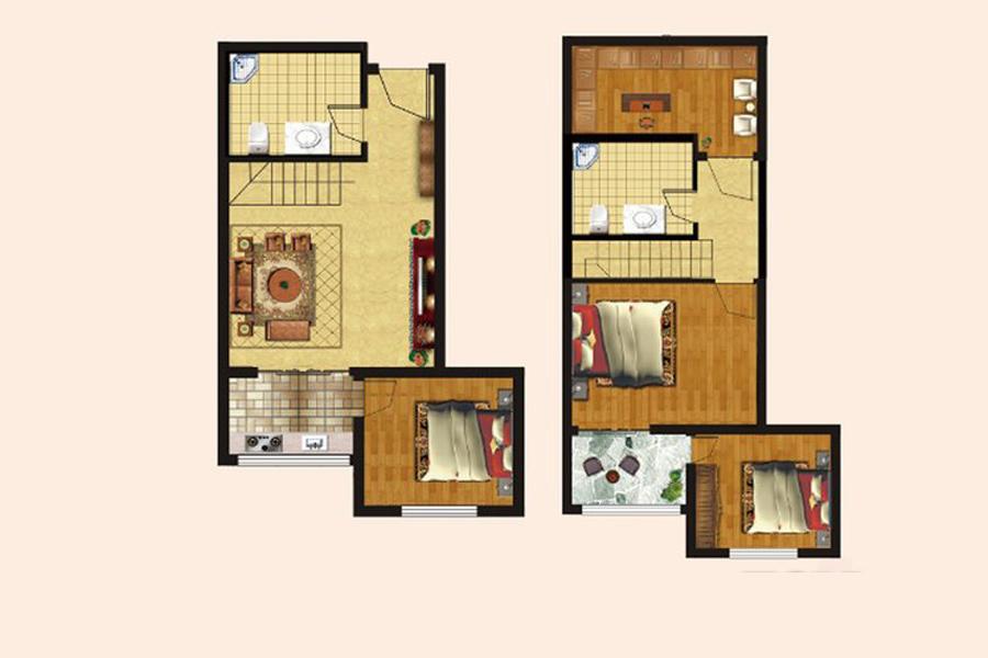 一期A1、A2栋楼B5户型