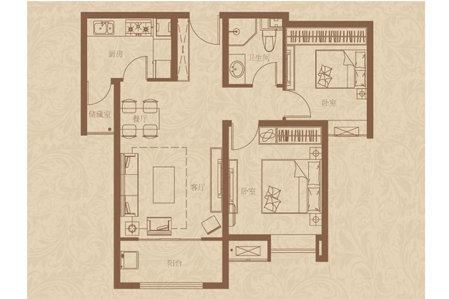4#楼标准层D2户型