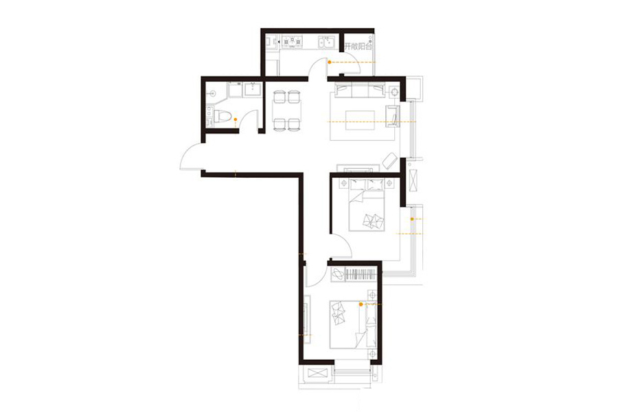 15a#楼83.69平标准层B户型