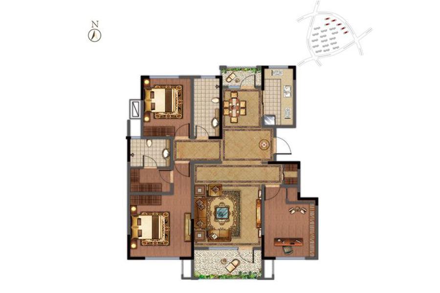 小高层6-11#楼E1户型