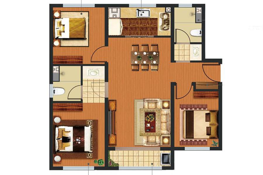 2、5#7#8#楼三居户型