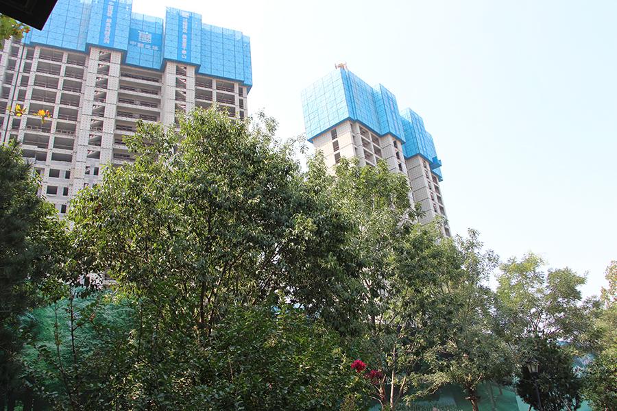楼栋施工实景图(2017.9
