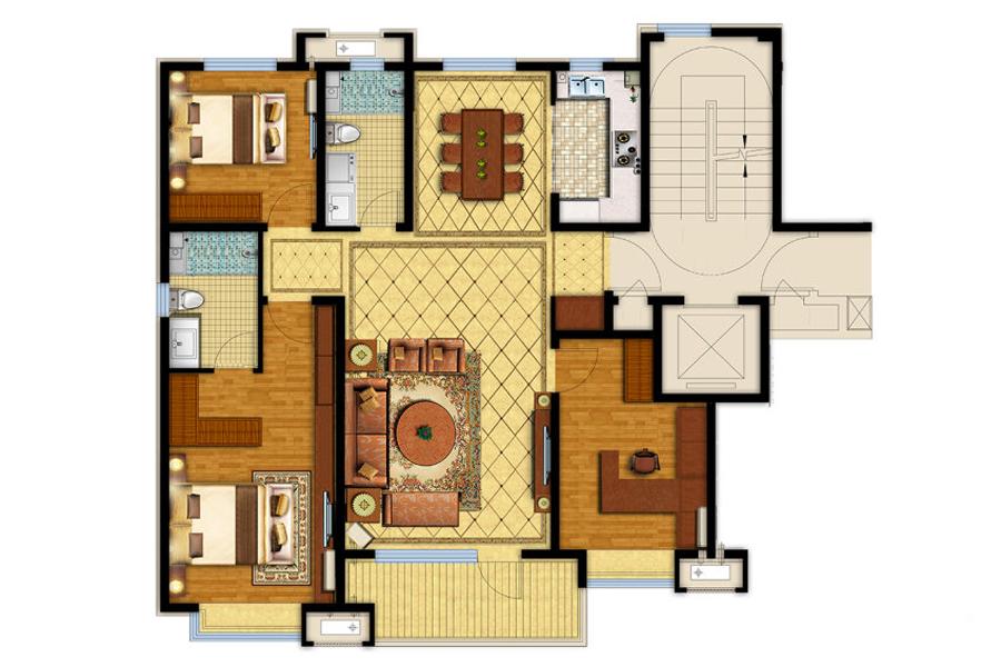 126平三室