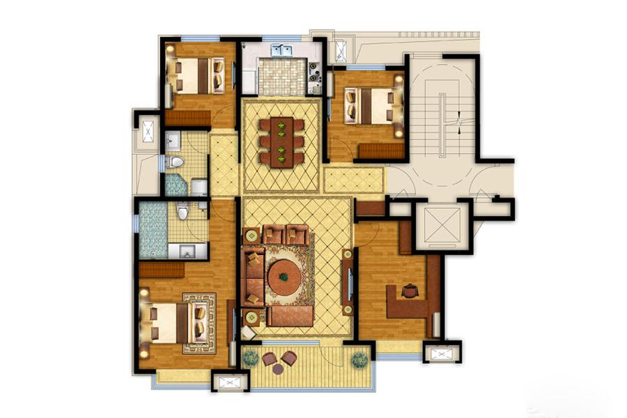 140平四室