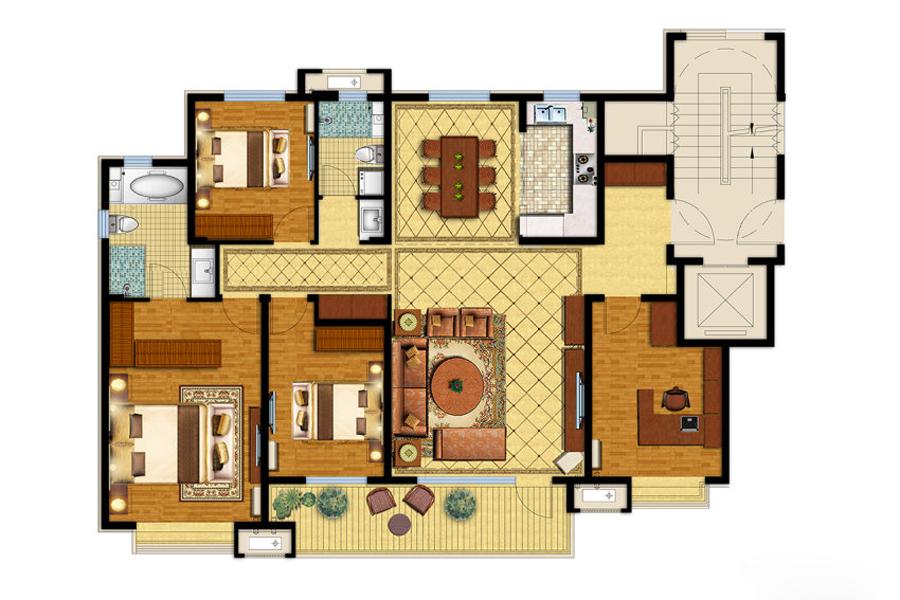 159平四室