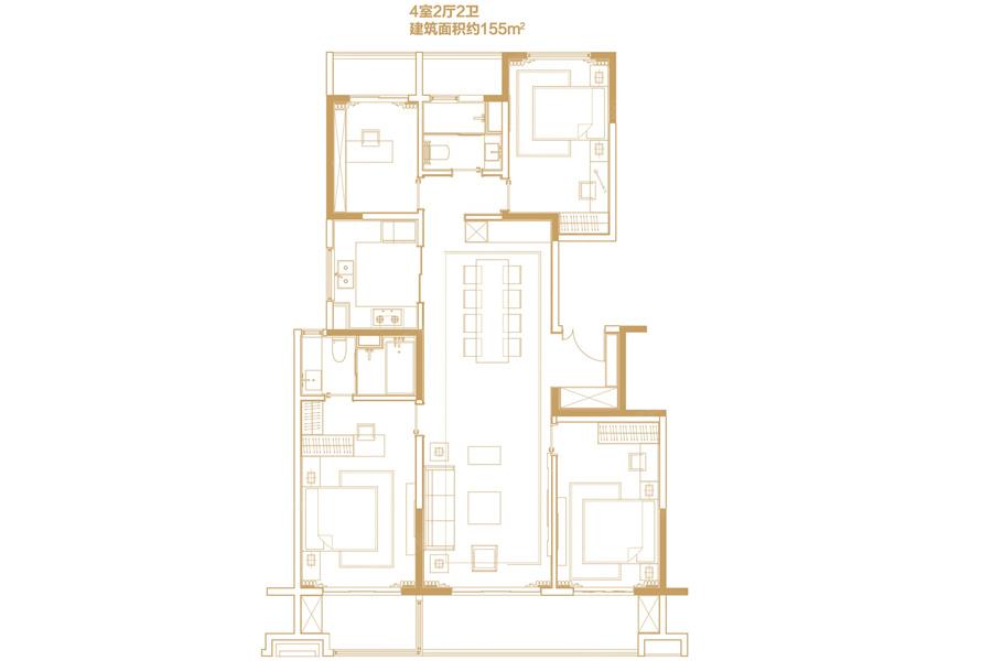 155平米4室2厅2卫