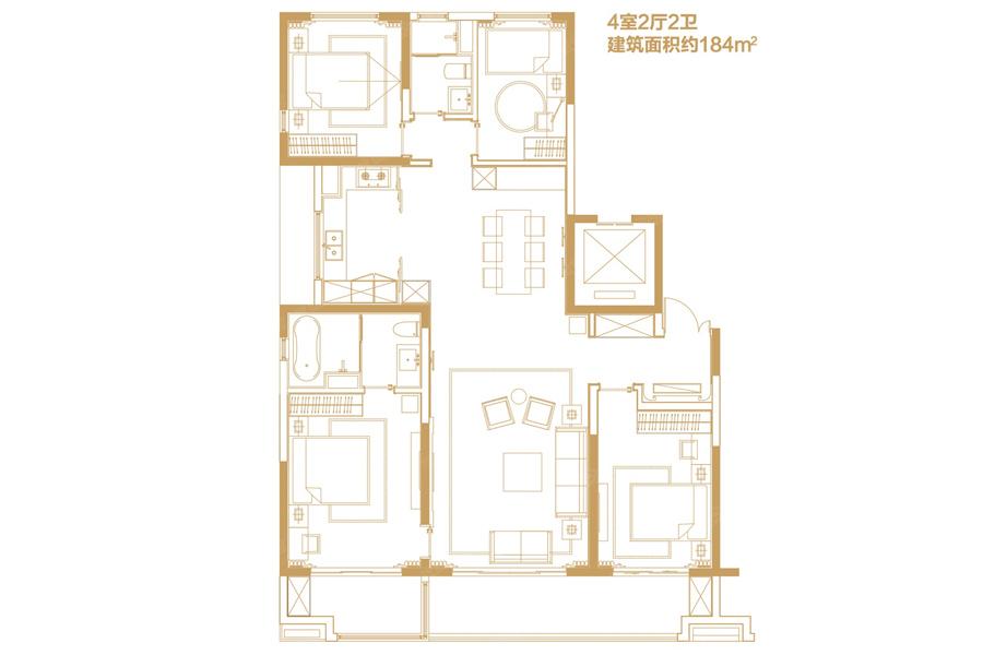 184平米4室2厅2卫