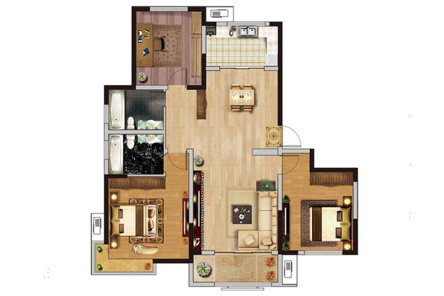34#楼大平层A户型140平米3室2厅2卫1厨