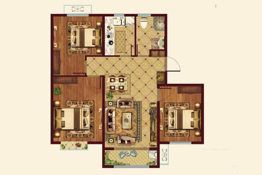 107㎡3室2厅2卫