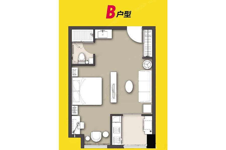 4#、5#B户型38平米1室