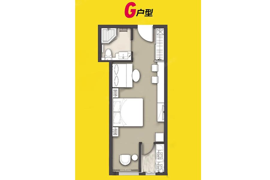 4#、5#G户型54平米1室1厅1卫