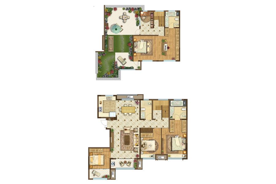 150顶跃5室2厅3卫